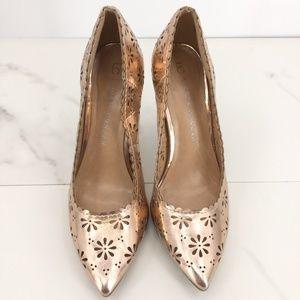 Like New Lauren Conrad rose gold shoes